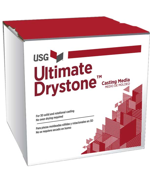 Usg Moulding Plaster : Usg ultimate drystone™ casting media plaster